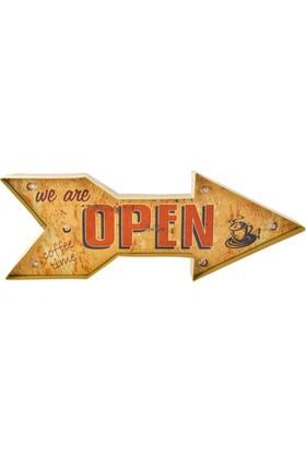 "LoveQ Ledli Pano ""Open"" 50X18X5,5 Cm."