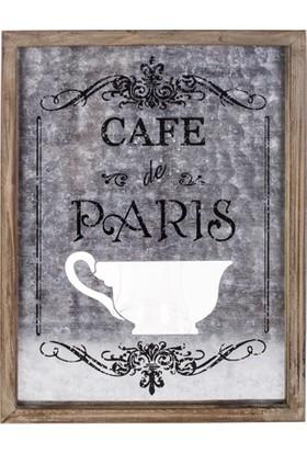 """LoveQ Pano Metal """"Cafe De Parıs"""" 30X40X2,5 Cm."""