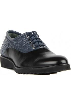 FootCourt Erkek Ayakkabısı Lacivert-Siyah 40