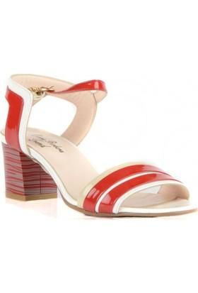 FootCourt Kadın Ayakkabısı Kırmızı-Beyaz 37