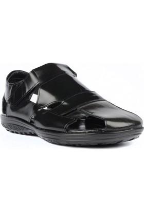 FootCourt Erkek Sandalet Siyah 43