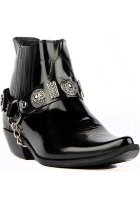 FootCourt Erkek Kovboy Botu Foot Siyah Açma 44