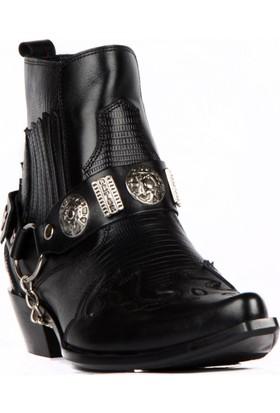 FootCourt Erkek Kovboy Botu Western Siyah 45