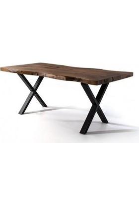 Zigzag Doğal Kütük Yemek Masası (Ort.2MT)