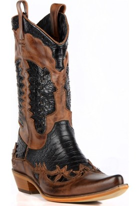 FootCourt Erkek Kovboy Çizmesi Camel Kahverengi 44