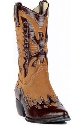 FootCourt Bayan Kovboy Çizmesi Buz Bordo 40