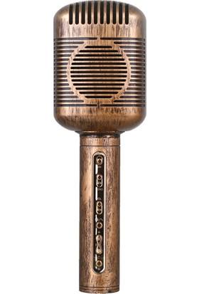 Aodasen JY-51 Eskitme Tasarımlı Karaoke Mikrofon, Hoparlör, Speaker