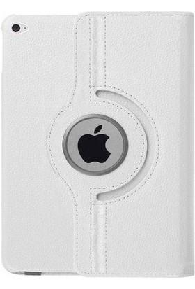 TechnoStyle iPad 12.9 360 Derece Dönebilen Deri Kılıf Beyaz