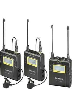 Saramonic UwMic9 2 Verici + 1 Alıcı Wireless Yaka Mikrofonu