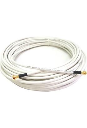 Reçber 5 mt RG6U6 Bakır Anten Kablosu Hazır Gold F Konnektörlü