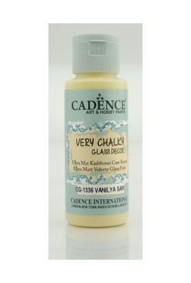 Cadence Vanilya Sarı - Very Chalky Enamel Cam Seramik Boya 59 ml