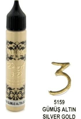 Cadence Gümüş Altın - 3D Boyutlu Boncuk Boya 25 ml