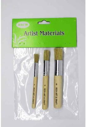 Rich Art 3lü Stencil Fırça Takım