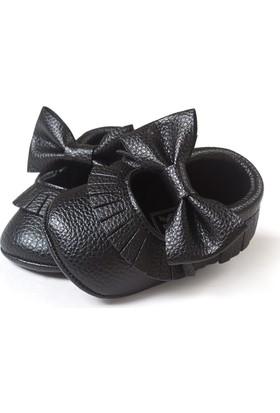 Romirus Bebek Ayakkabı Makosen Fiyonk ve Püsküllü Siyah 17