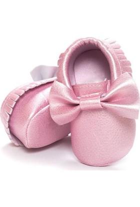 Romirus Bebek Ayakkabı Makosen Fiyonklu Sedefli Pembe 19