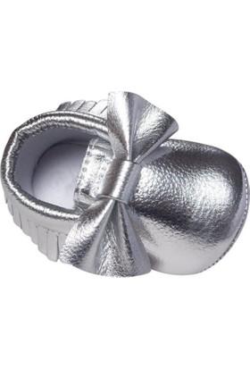 Romirus Bebek Ayakkabı Makosen Fiyonklu Silver 18