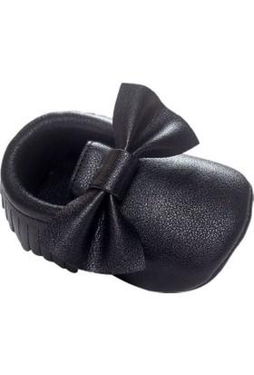 Romirus Bebek Ayakkabı Makosen Fiyonklu Siyah 19