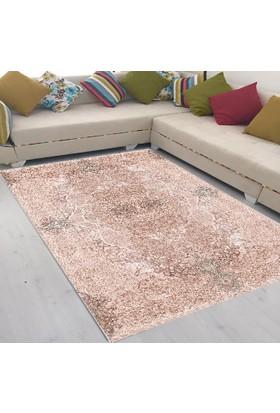 Best Home Latex Taban Dijital Baskılı Saçaklı Halı Romantik Pudra 80X150 Cm