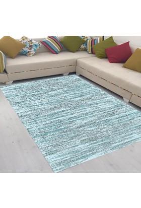 Best Home Latex Taban Dijital Baskılı Saçaklı Halı Yakamoz Mavi 80X150 Cm