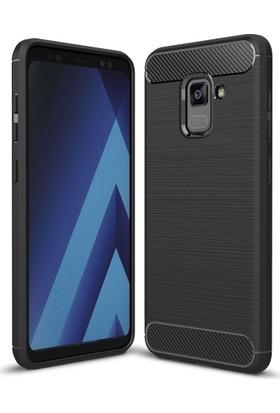 Case 4U Samsung Galaxy A8 2018 Korumalı Arka Kapak Room Siyah