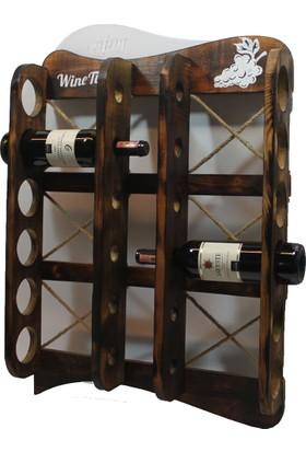 Le Atölye Masif Ahşap Şaraplık 12'li