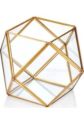 The Mia Brass Dekor & Çiçeklik 22 x 18 cm