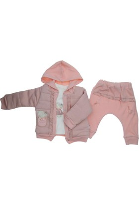 Hippil Kız Bebek Ceketli 3Lü Takım