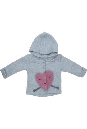 Bibaby Kız Bebek 3-6-9-12-18-Kapsonlu Ceket