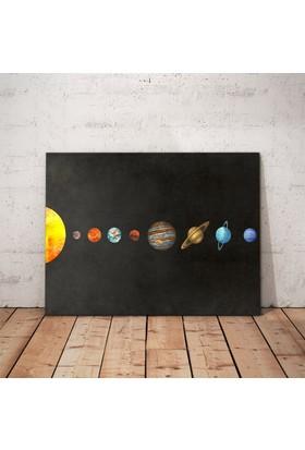 Javvuz Güneş Sistemi Gezegenler - Metal Plaka Poster