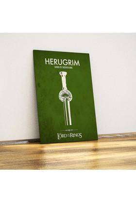 Javvuz Teoden'İn Kılıcı Herugrim - Metal Poster