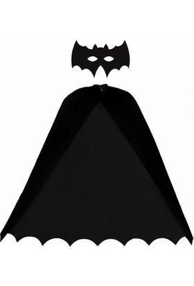 Kostümce Batman Kostümü Pelerin ve Maske Seti Çocuk