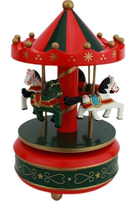 Hunga Atlı Karınca Müzik Kutusu - Kırmızı Yeşil