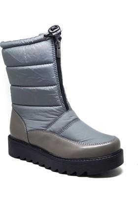 Shop And Shoes Kadın Kar Botu Gri 004-2810