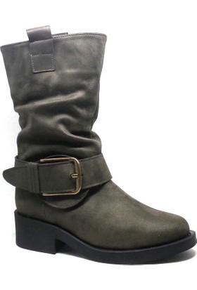Shop and Shoes 173-1717 Haki Kadın Bot