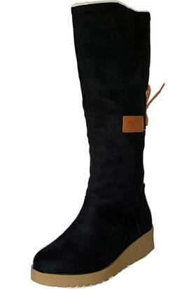 Shop And Shoes Kadın Bot Siyah Süet 190-1750