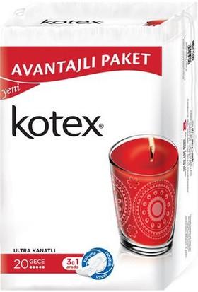Kotex Ultra Triple Gece 20'li Ped Avantajlı Paket