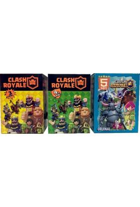 Clash Royale 3. - 4. - 5. Seri Orjinal Oyun Kartları 200lü Kutu (ÜÇ OYUN Bir Arada)
