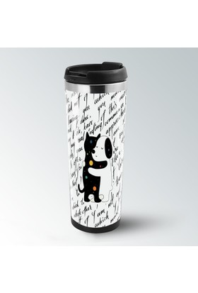 iF Dizayn Kedi Köpek Dostluğu Termos Kupa Bardak Mug