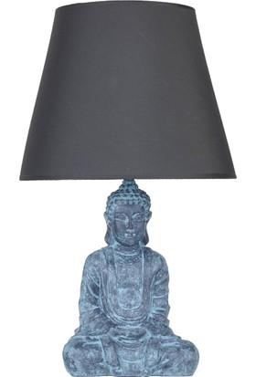qdec Modern Dizayn Buda Abajur Antrasit Gri