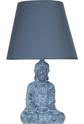 qdec Modern Dizayn Buda Abajur Antrasit Lacivert