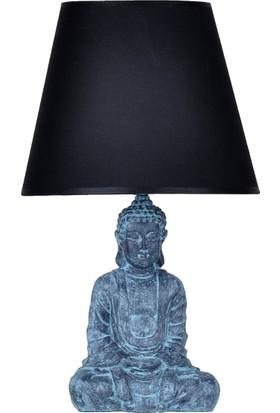 qdec Modern Dizayn Buda Abajur Antrasit Siyah
