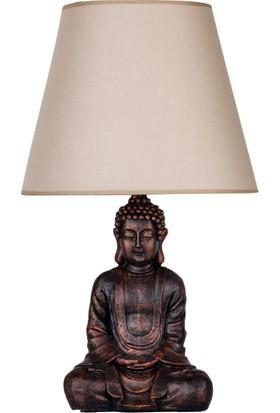 qdec Modern Dizayn Buda Abajur Bakır Bej
