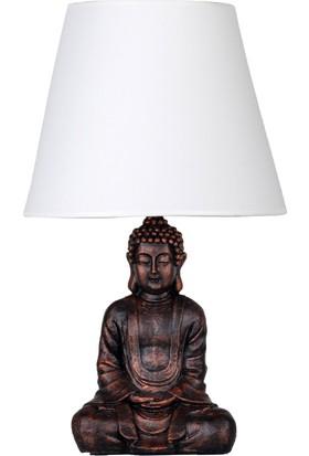 qdec Modern Dizayn Buda Abajur Bakır Beyaz