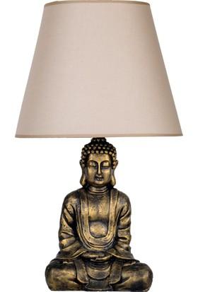 qdec Modern Dizayn Buda Abajur Gold Bej