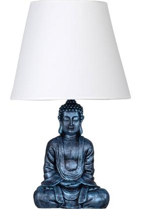 qdec Modern Dizayn Buda Abajur Turkuaz Beyaz
