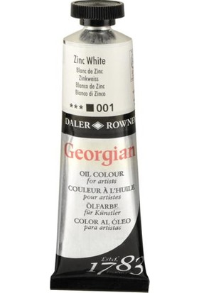 Daler Rowney Georgian Yağlı Boya 38ml - N:001 Zinc White
