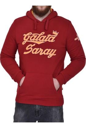 Galatasaray Lisanslı Kapşonlu Erkek Sweat