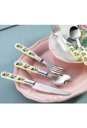 Laviva Mio/Rosa 30 Parça Çatal Kaşık Bıçak Set Pembe