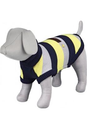 Trixie Köpek Kazağı M 45cm Koyu Mavi, Gri, Sarı