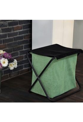 Boo Home Çamaşır Sepeti Metal Ayaklı Yeşil